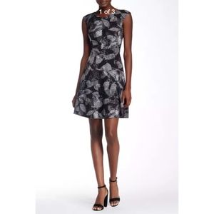 NEW Rebecca Taylor Sonic Garden Fit & Flare dress